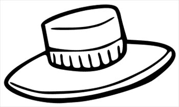 Hat  black and white hat clip art black and white free clipart images 2