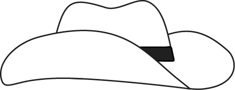 Hat  black and white hat clip art images 4