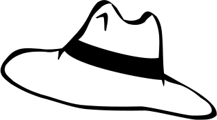 Hat  black and white hat clipart black and white clipartfest 2