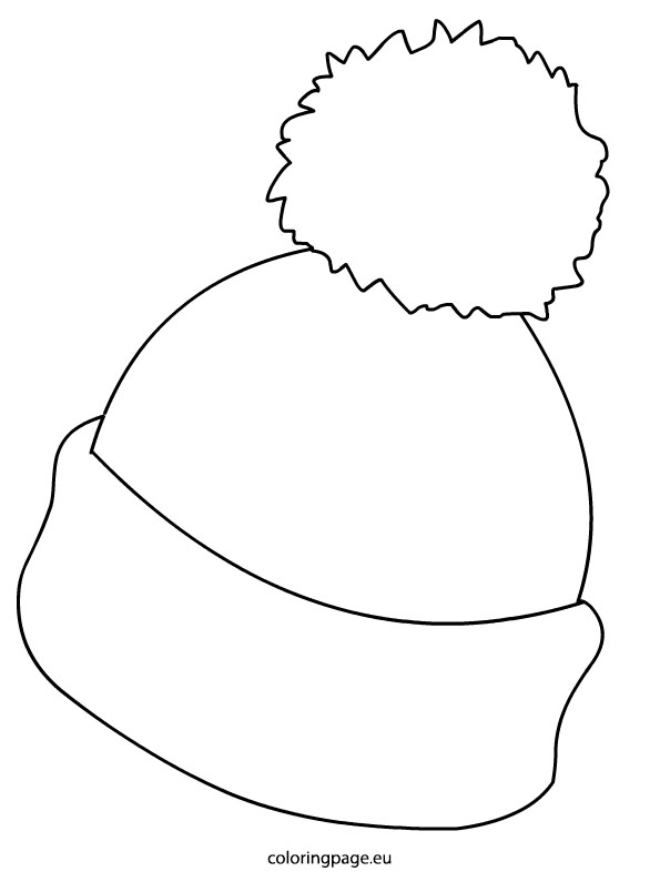 Hat  black and white winter hat clipart black and white