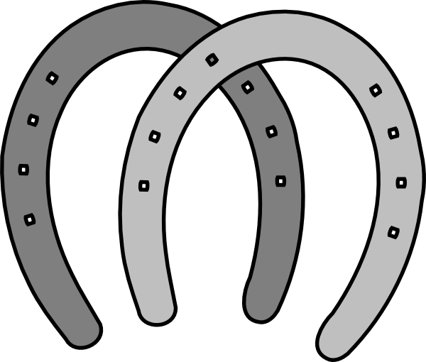 Horse shoe clipart image horseshoe coloring page