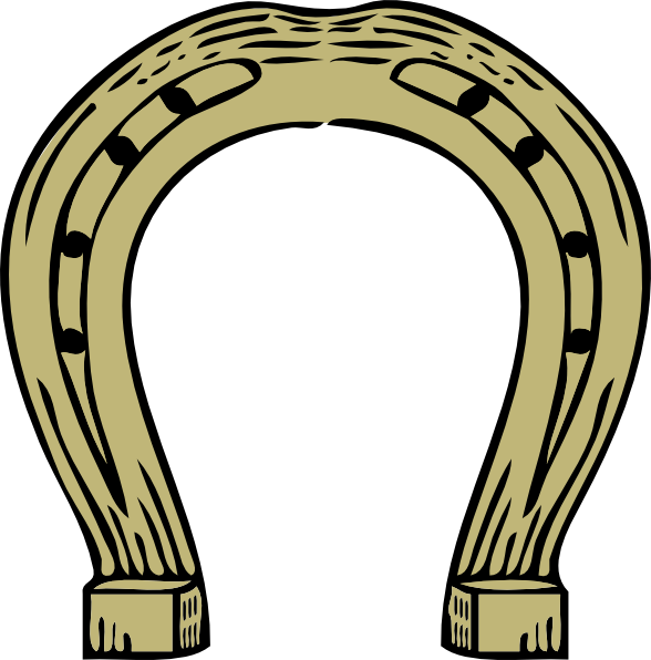 Horse shoe horseshoe clip art free vector 4vector
