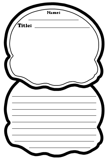 Ice cream scoop coloring sheet clipart