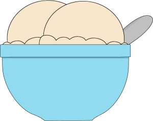 Ice cream scoop ice cream bowl clipart