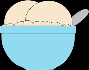 Ice cream scoop ice cream bowl clipart