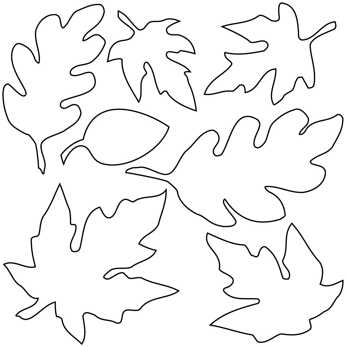 Leaves  black and white black and white leaves clipart