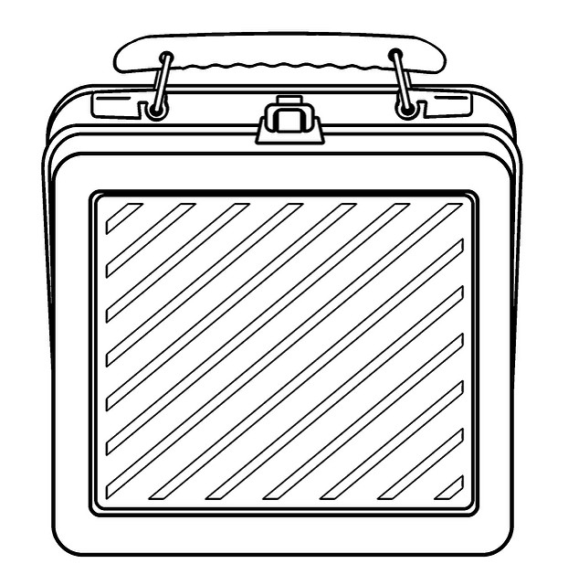 Lunch box lunch clipart black and white 2