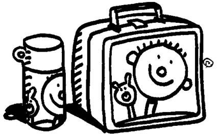 Lunch box lunch clipart black and white
