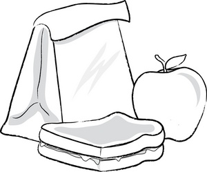 Lunch box suitcase clip art black and white lunch clipart 2