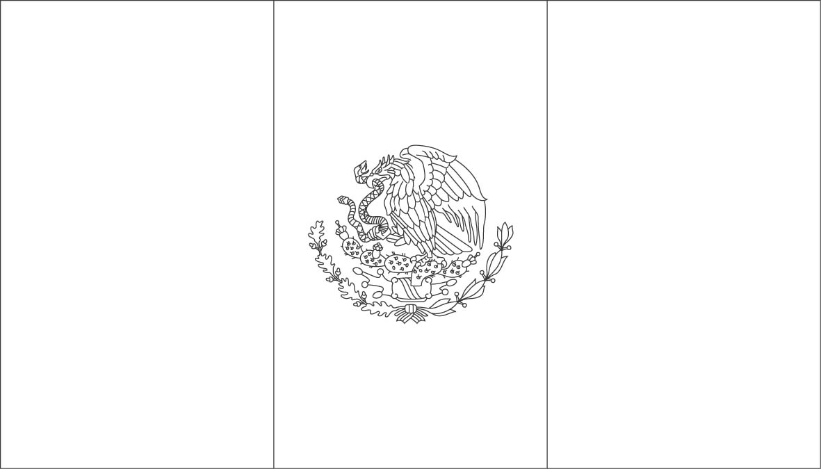 Mexican flag black and white free download clip art 2