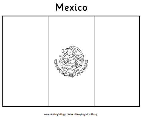 Mexican flag black and white free download clip art 5