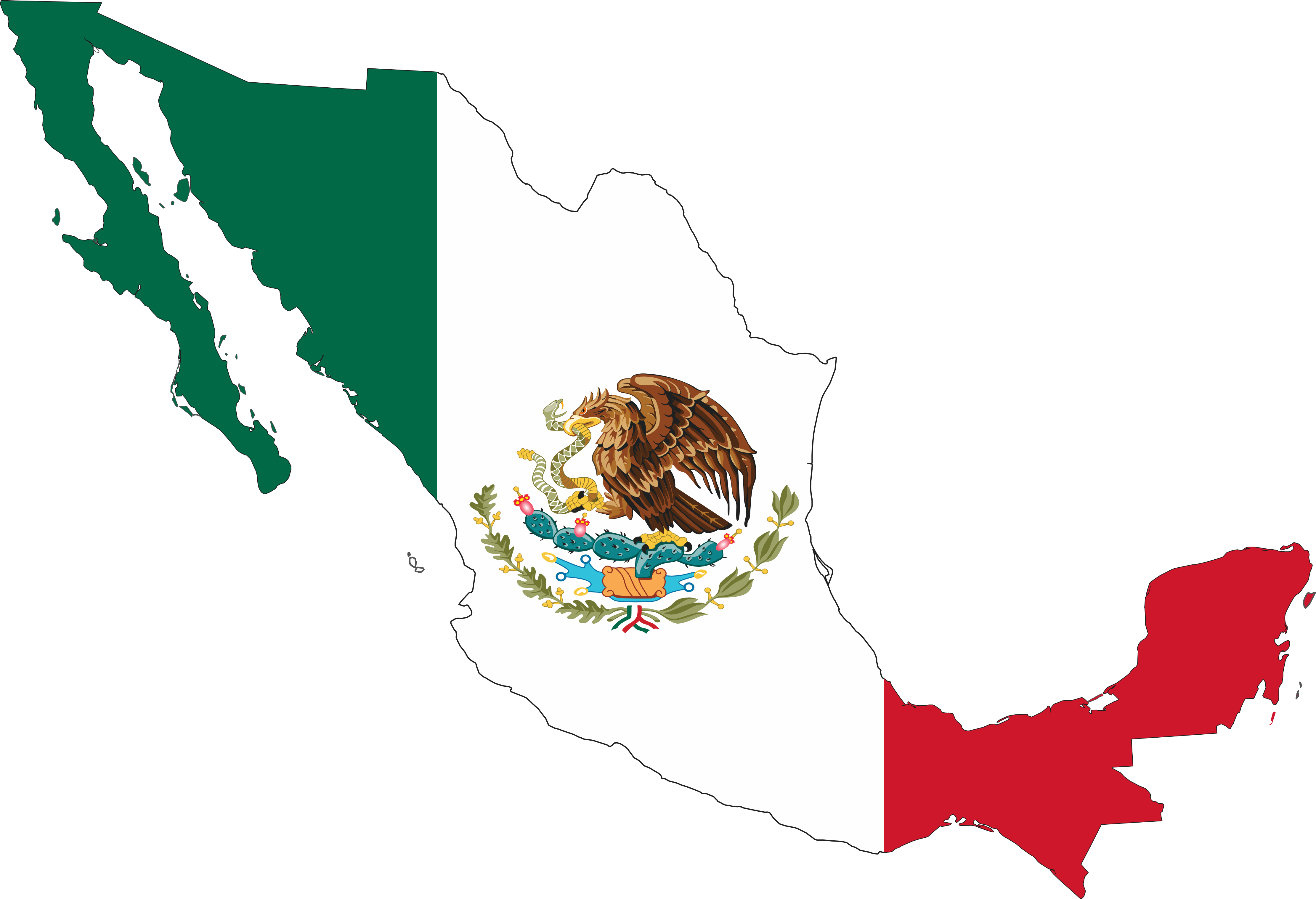 Mexican flag clip art free clipart images 3