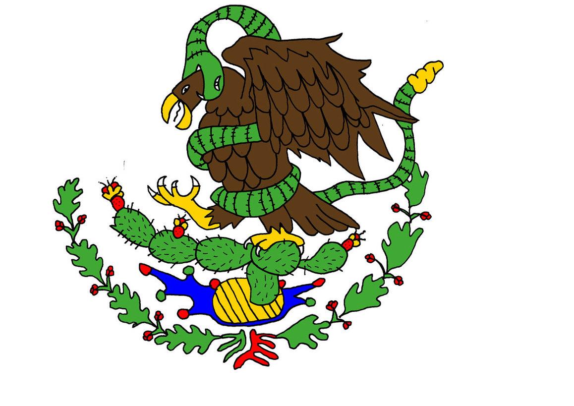Mexican flag logo clipart