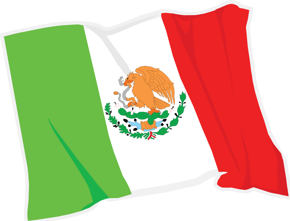 Mexican flag waving clipart clipartfest