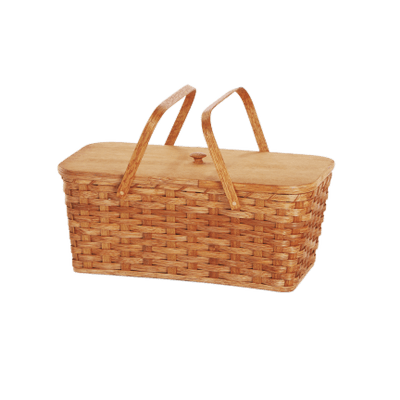 Modern picnic basket transparent stick clip art