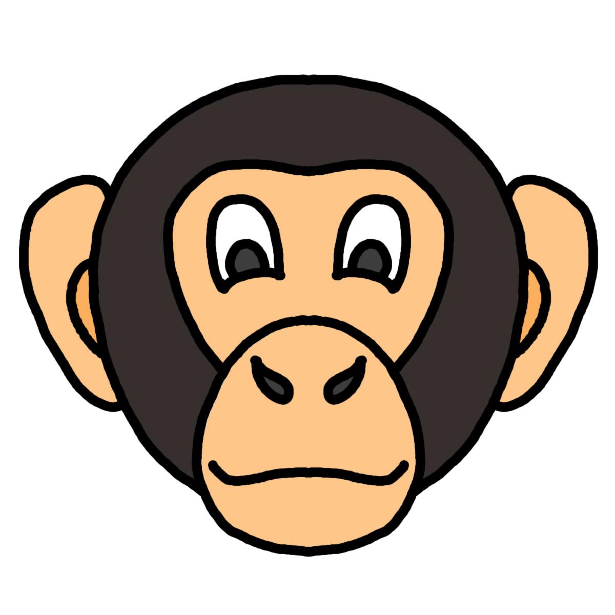 Monkey face clip art clipartfest 2