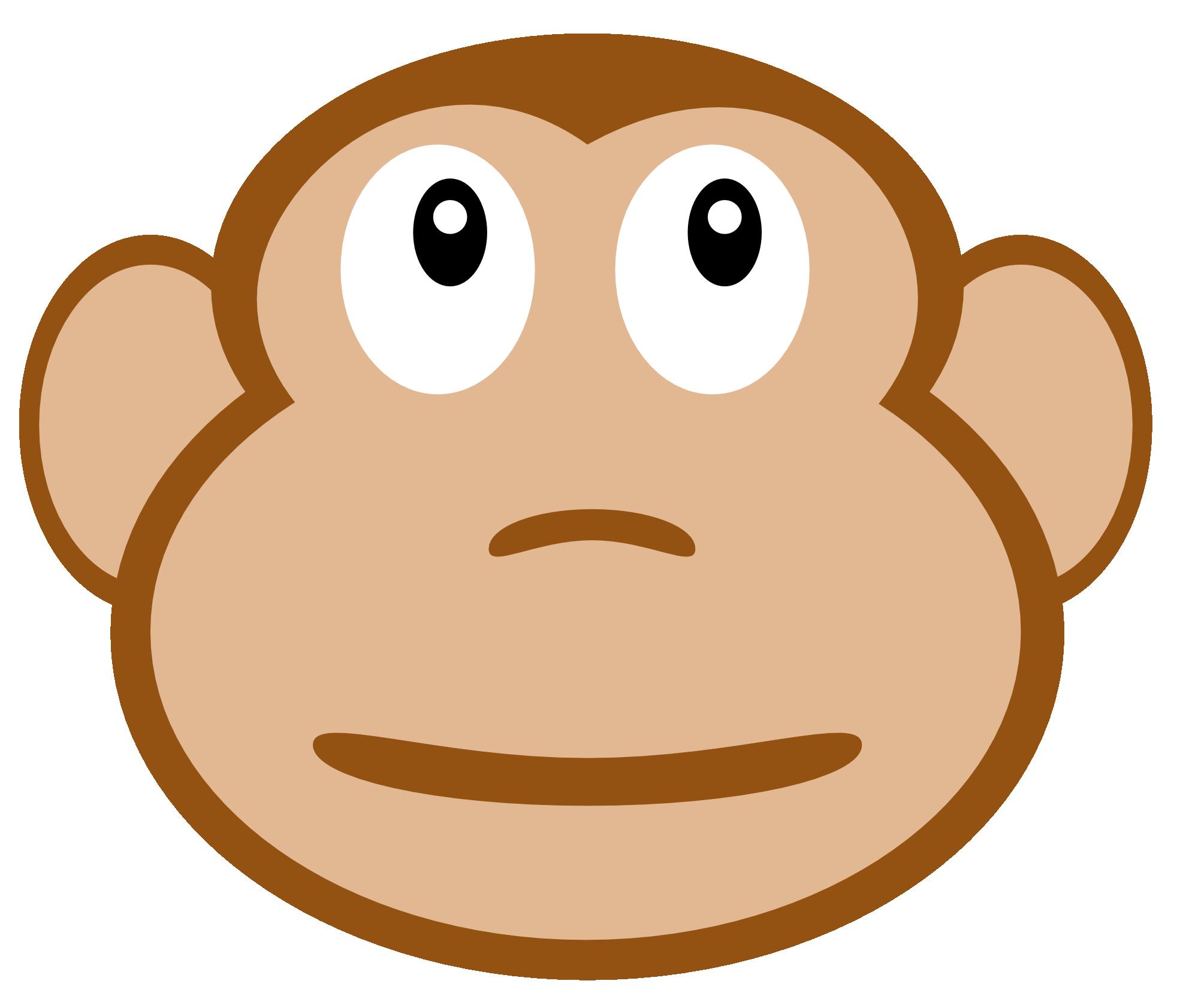 Monkey face clip art clipartfest