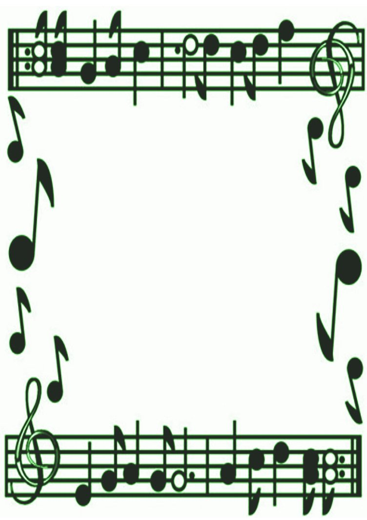 Musical borders music note border clipart free images 2