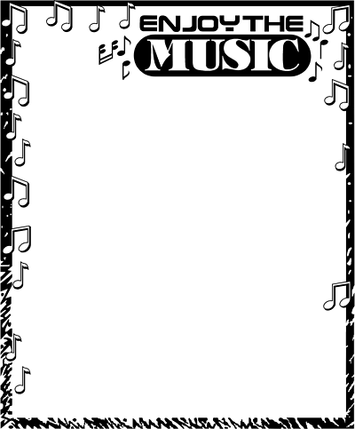 Musical borders music note border clipart free images