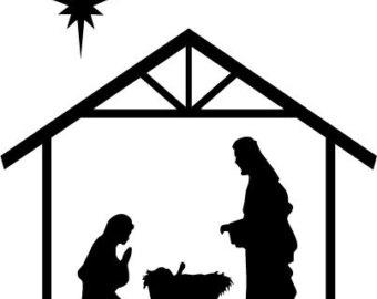 Nativity  black and white black and white clipart nativity scene clipartfest