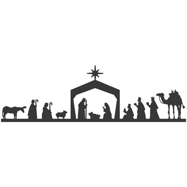 Nativity  black and white black nativity scene clipart clipartfest 2
