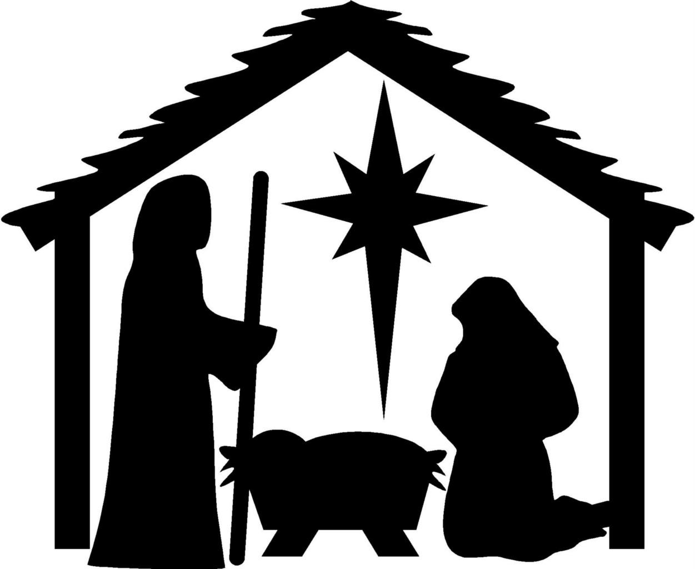 Nativity  black and white christmas nativity clipart black and white clipartfest