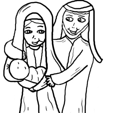 Nativity  black and white christmas nativity clipart black and white free 4