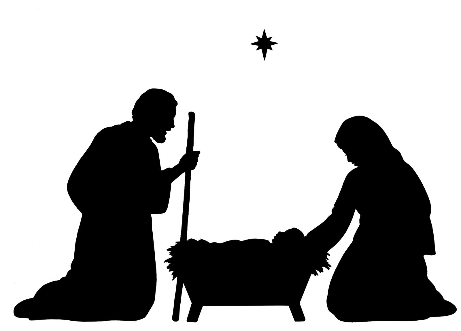 Nativity  black and white free nativity clipart black and white clipartfest 4