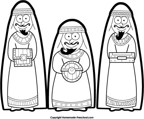 Nativity  black and white free nativity clipart