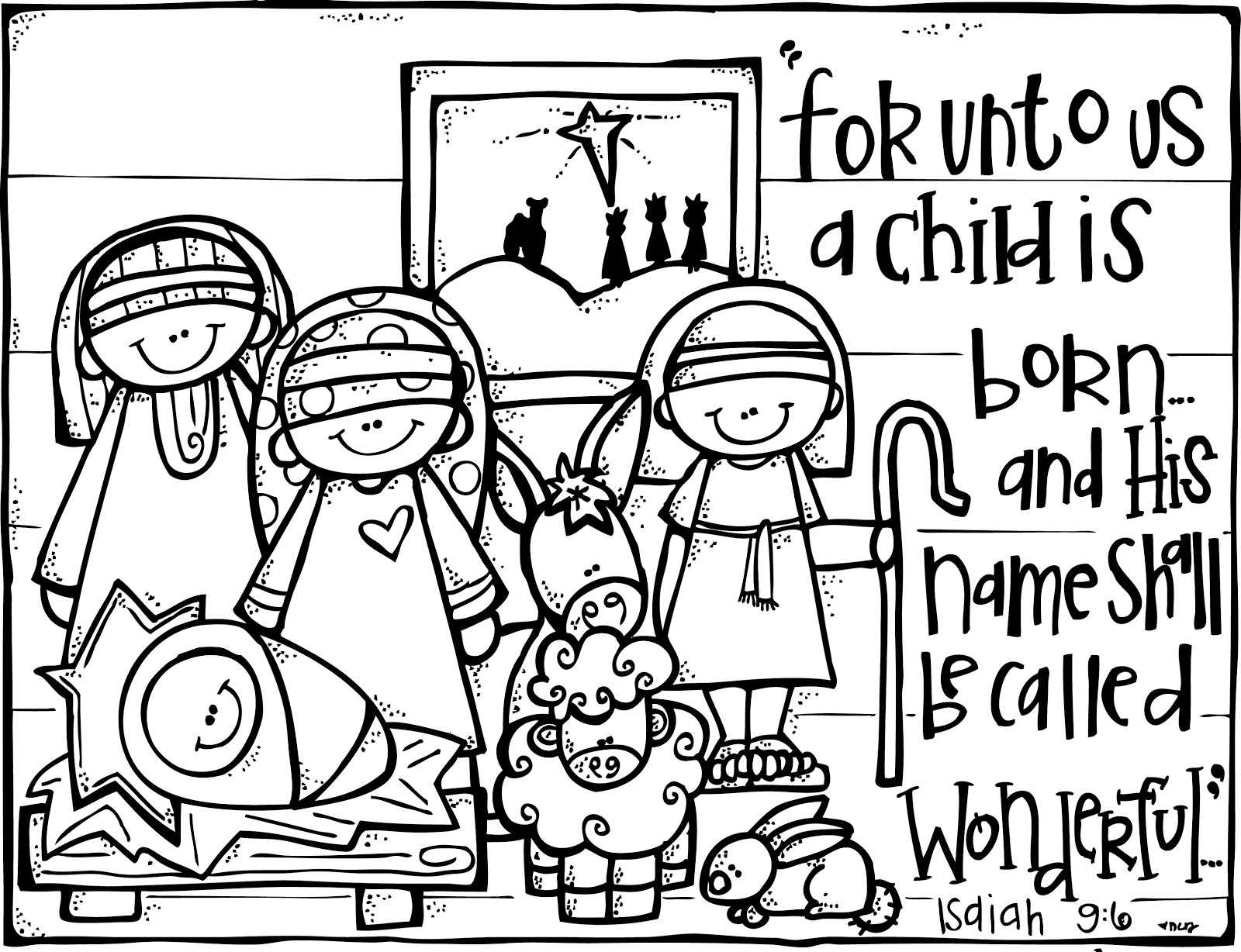 Nativity  black and white large print black and white religious christmas clipart clipartfest