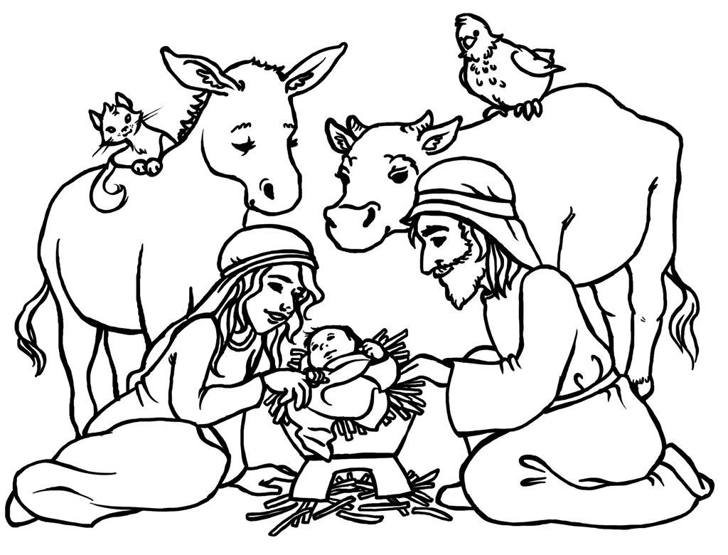 Nativity  black and white lds jesus manger clipart black and white clipartfest