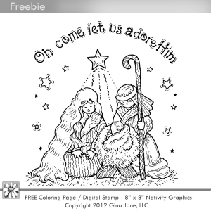 Nativity  black and white lds nativity clipart 2
