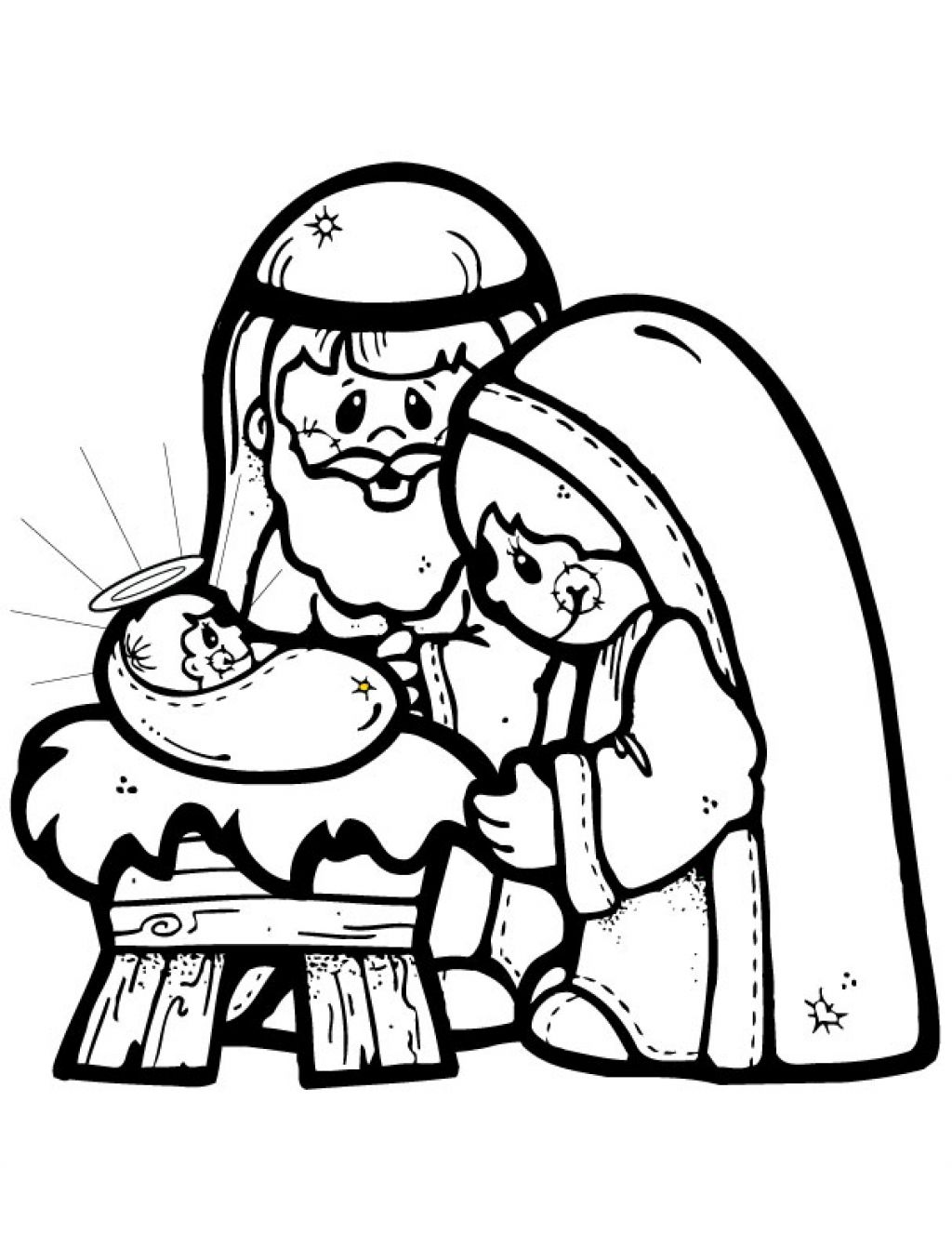 Nativity black and white nativity clip art black and white for Nativity animals coloring pages