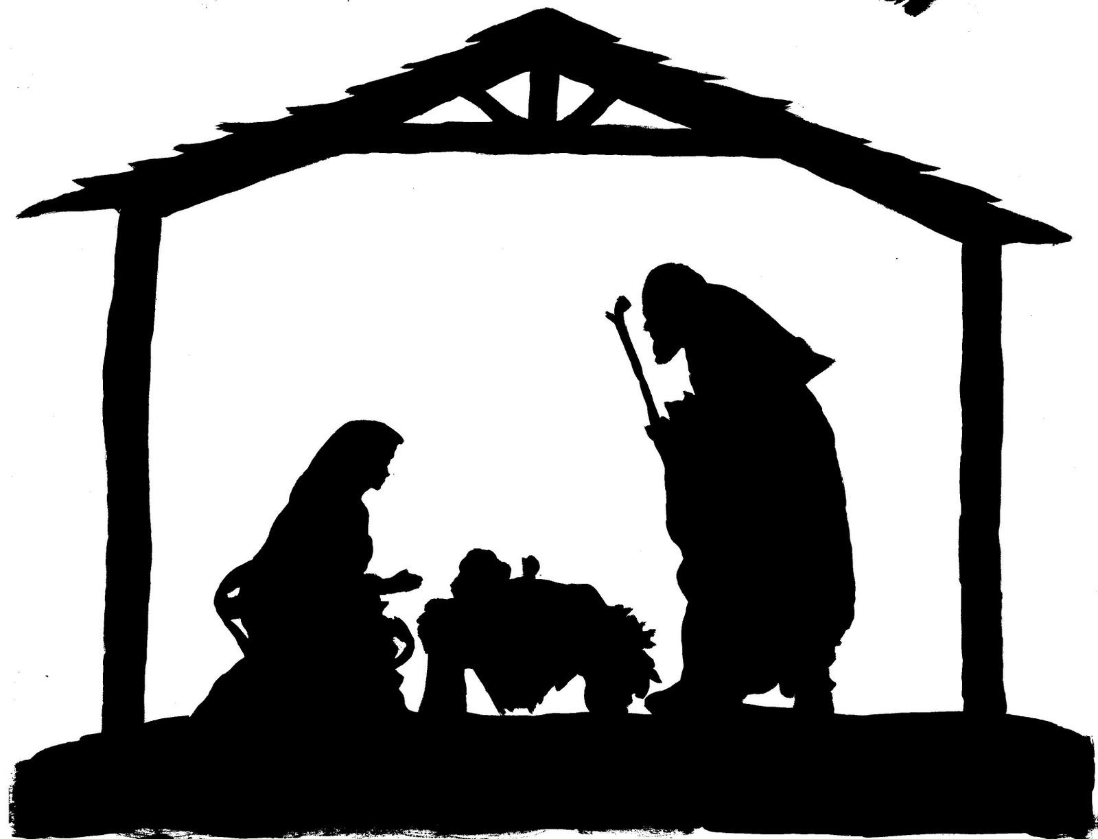 Nativity  black and white nativity clip art black and white clipartfest
