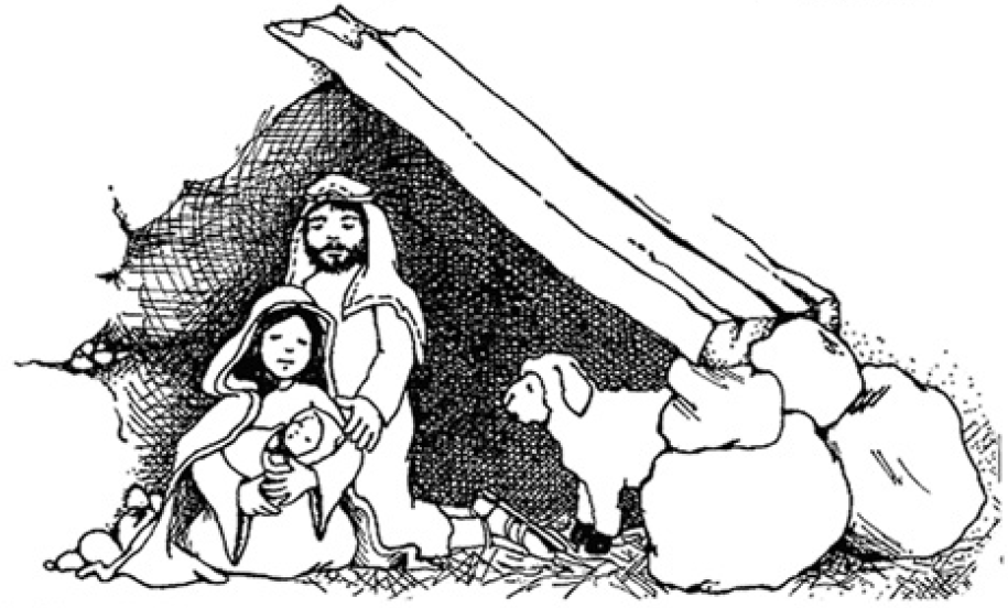 Nativity  black and white nativity clipart clipartfest