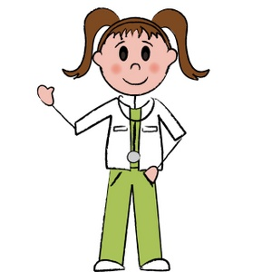 Nurse with flashlight clipart