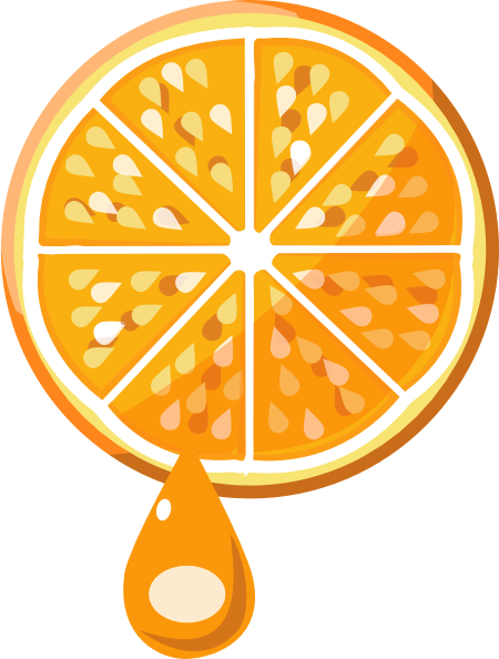 Orange juice clip art at vector clip art