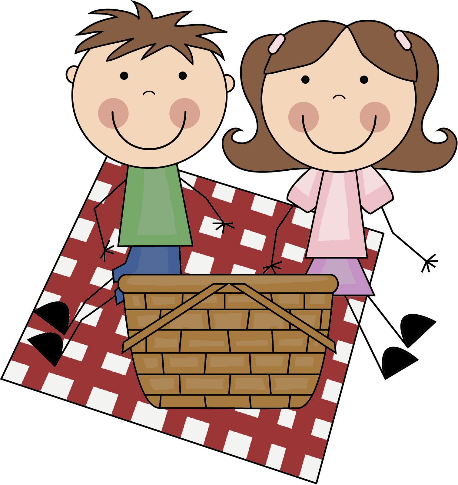 Picnic basket clip art black and white free 11