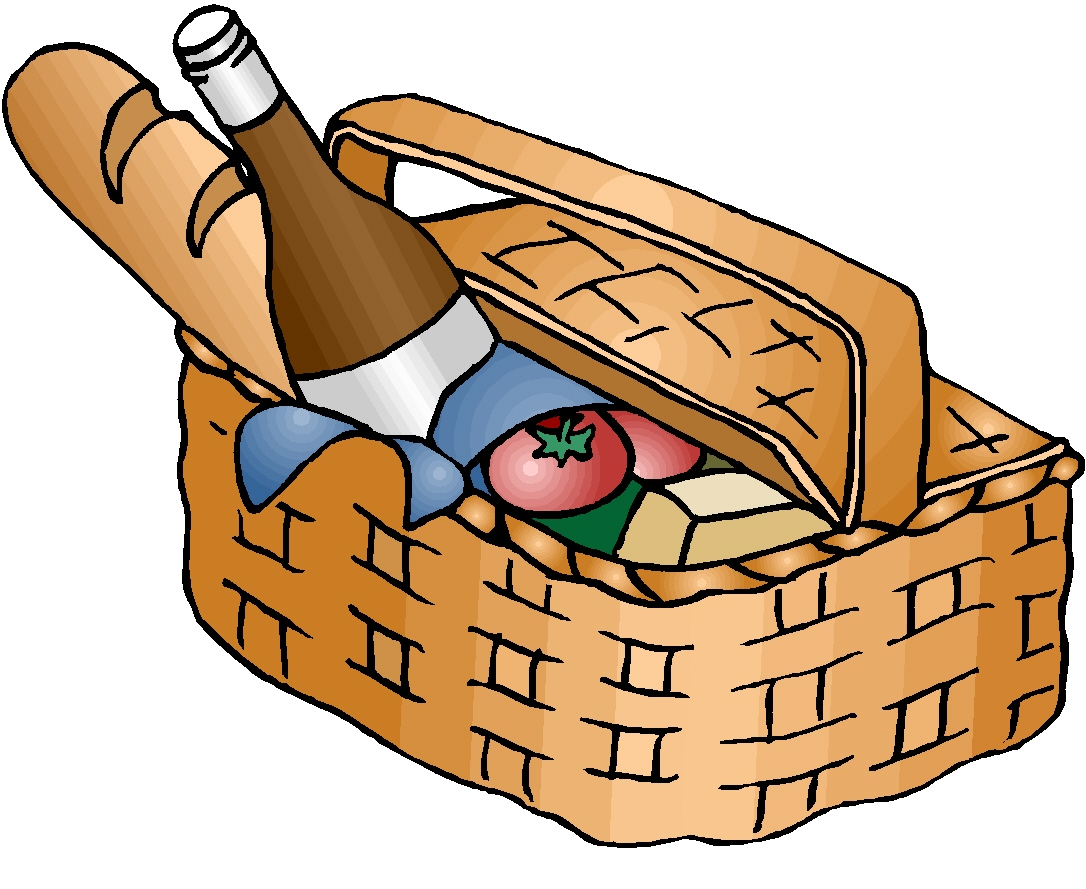 Picnic basket clip art black and white free 4