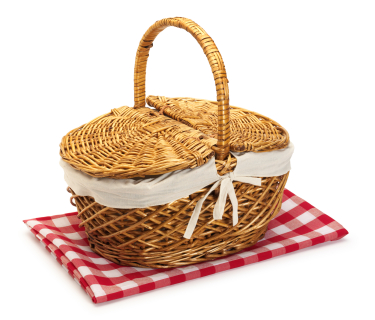Picnic basket clip art black and white free clipart 2