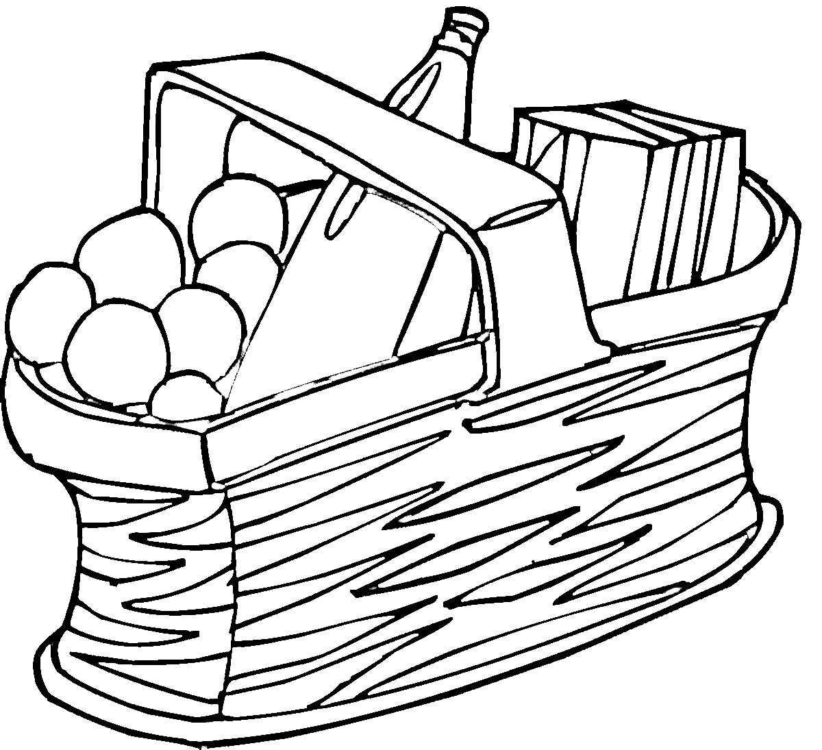 Picnic basket clipart black and white clipartfest 2