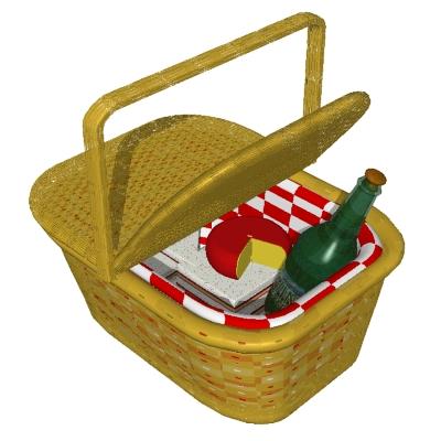 Picnic basket clipart clipart