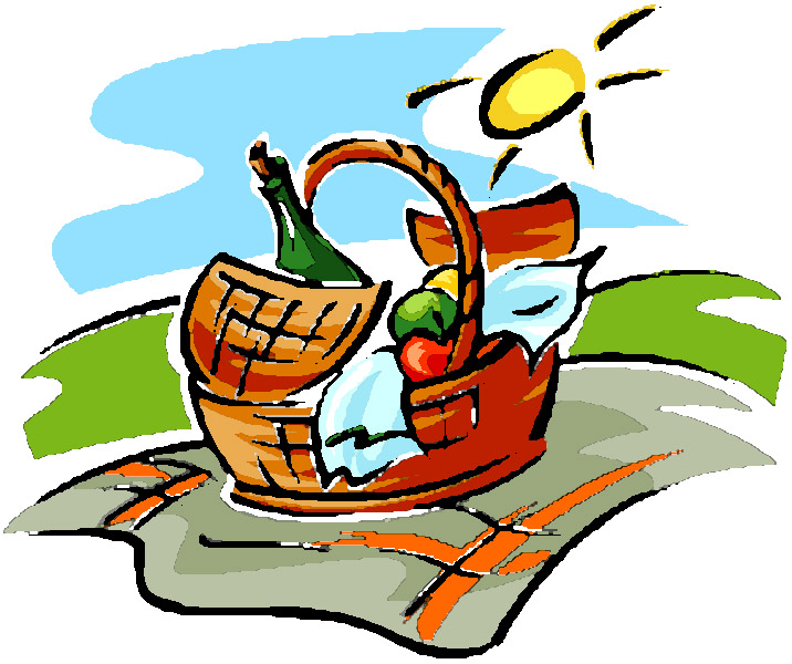 Picnic basket clipart hostted