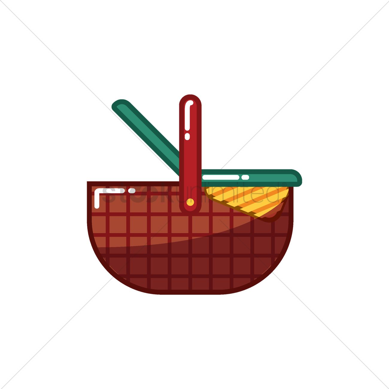Picnic basket vector image 0 stockunlimited clipart