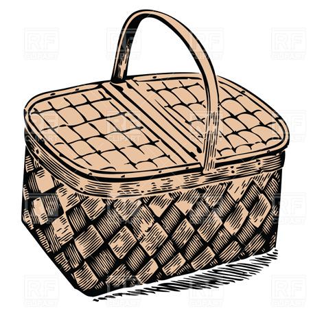 Picnic basket vector image 8 rfclipart