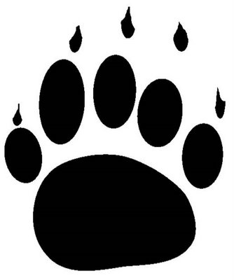 Polar bear paw print clipart 2