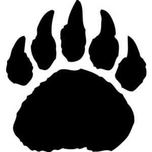 Polar bear paw print clipart