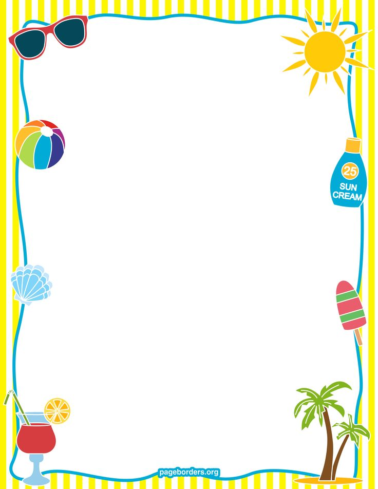 Preschool border 0 images about preschool memory book stuff on clip