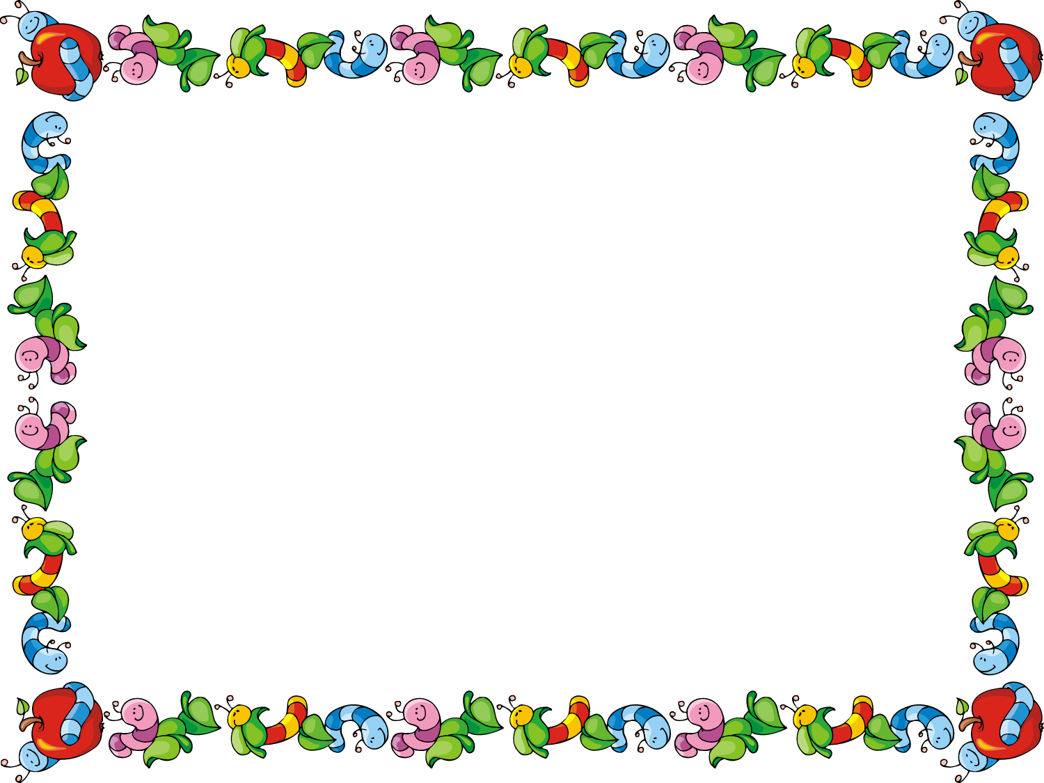 Preschool border apple border clipart free clipartfest