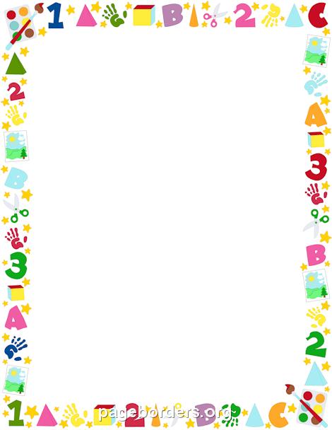 Preschool Border - 62 cliparts